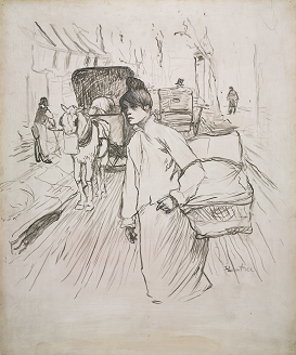 """Henri de Toulouse-Lautrec, """"The Laundress"""", クリーブラント美術館"""
