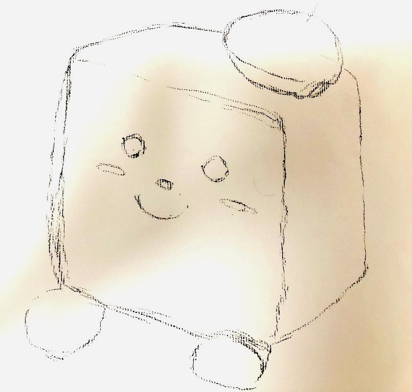 木炭デッサン キャンバスくん