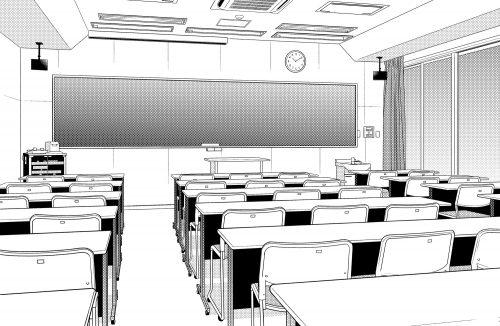 漫画 背景 教室