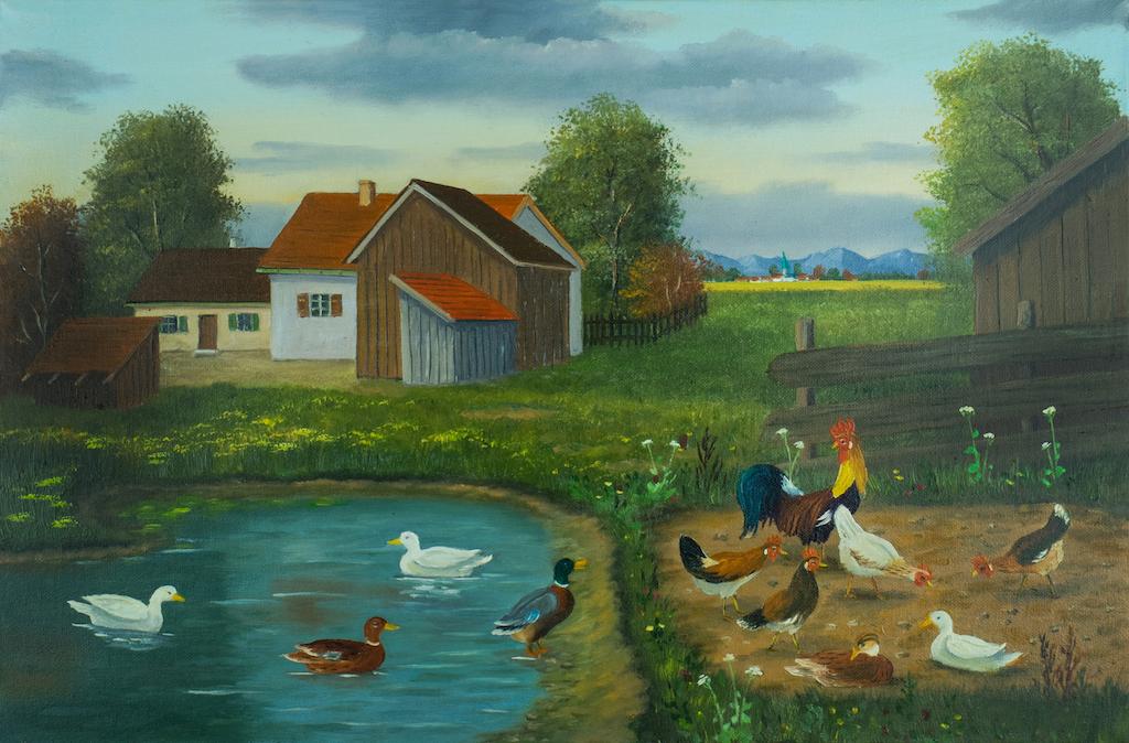クサカベ 油彩画