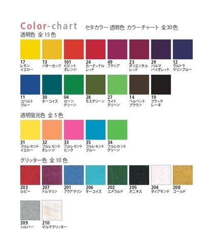 セタカラー カラーチャート