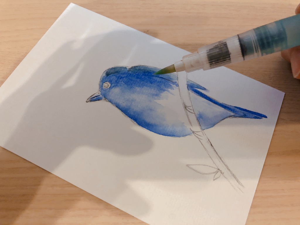 水筆ペン 彩色